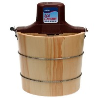 Rival 8550-X 5-Quart Wooden Electric Ice Cream Maker by Rival