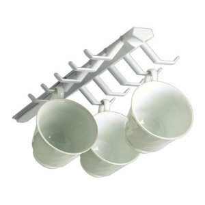 Spectrum Diversified 34100 White Sliding Cup Rack