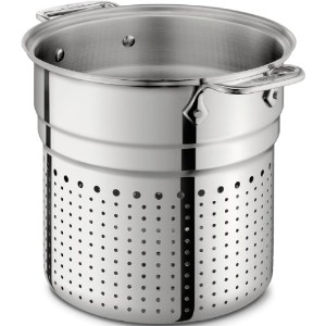 All-Clad 37072-I D Stainless Steel Tri-Ply Dishwasher Safe 7-Quart Pasta Colander Insert / Cookware...