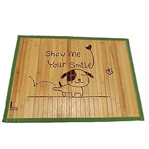 [Petstyle]Summer Cooling Bamboo Mat for Pet Dogs and Cats 1 Piece 3L 60×90cm (Random Color of MAT...