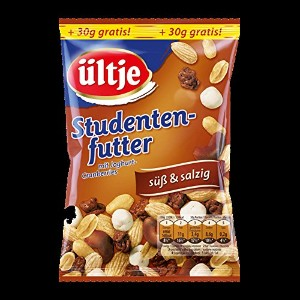ultje Nuss-(fruit-) Mix - ultjeナット(フルーツ)ミックス - 6x Studentenfutter sus and salzig 150g + 30g gratis...