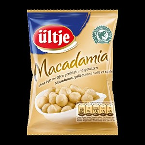 ultje Edelnuts - 高貴ナッツ - Macadamias, without fat roasted and salted 150 g - 5,29 oz - 脂肪ロー6Xスト塩蔵なしのマ...