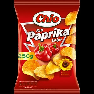 Chio 6x Chips Red Paprika 250 g - 8,82 oz - CHIO6Xチップス赤パプリカ250グラム - 8.82オンス