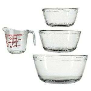 Anchor Hocking 4-Piece Glass Mix & Measure Set by Anchor Hocking