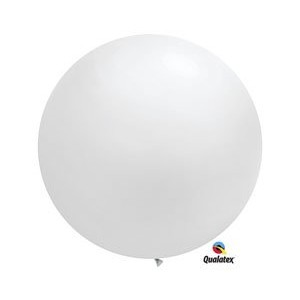 Giant White Latex Balloon Package of 2 by Shindigz
