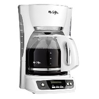 Mr. Coffee CGX20-NP 12-Cup Programmable Coffeemaker, White by Mr. Coffee