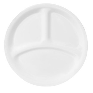 Corelle Livingware 8-1/2-Inch Divided Dish, Winter Frost White by CORELLE