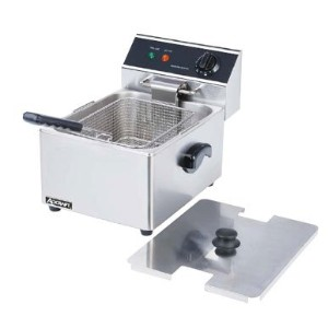 Adcraft Countertop Stainless Steel Single Tank Deep Fryer, 18.11 x 13.39 x 12.99 inch -- 1 each. by...