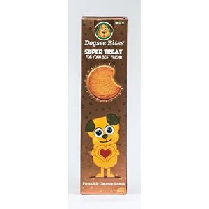 Dogsee Bites 犬用の健康クッキー Healthy Cookies for Dogs カボチャとシナモン Pumpkin and Cinnamon (150 gms)