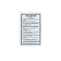 The Rules Linen Tea Towel by Ulster Weavers