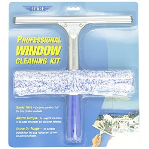 Ettore04991-SProfessional Window Cleaning Kit-SCRUBBER/SQUEEGEE (並行輸入品)