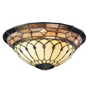 Kichler Lighting 340001 Tiffany Universal Art Glass Ceiling Fan Light Kit Bowl by Kichler