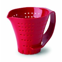 Chef'S Planet Measuring Colander, Red by Chef's Planet