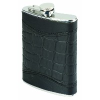 Oenophilia Alligator Flask, Black - 8 Ounce by Oenophilia