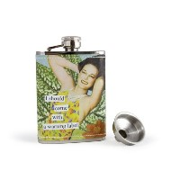 Anne Taintor, Inc. 58293 Flask, A Warning Label, 2-3/4W by 4 1/4H by Anne Taintor
