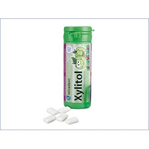 Xylitol Chewing Gum for Kids, Apple 30 g by Miradent