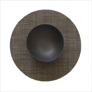 "Chilewich Basketweave Table Mat Round 15"", Oyster (One Piece) by Chilewich [並行輸入品]"