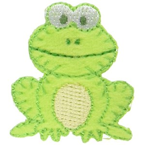 "Wrights Especially Baby Iron-On Appliques-Green Frog 1-1/4""X1-1/2"" 1/Pkg (並行輸入品)"