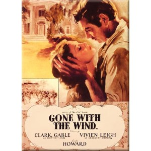"""Gone With The Windマグネット~セピアムービー~ X約2.5"""" 3.5"""""""