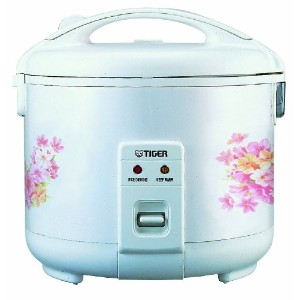 Tiger JNP-1000-FL 5.5-Cup (Uncooked) Rice Cooker and Warmer, Floral White by Tiger Corporation