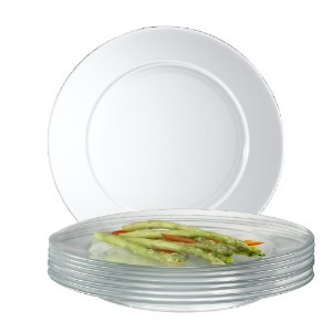 Arc International Luminarc Directoire Clear Dinner Plate, Set of 12 by Arc International