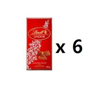 リンツ(Lindt) Chocolates Lindor Milk Chocolate 100g 6EA [海外直送] [並行輸入品]