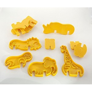 Animal Cracker 3D Cookie Cutter Set, Elephant Cookie Cutter, Giraffe Cookie Cutter, Brownie Cutter,...