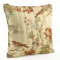 Waverly Charleston Chirp 20-Inch by 20-Inch Square Quilted Decorative Pillow by Waverly [並行輸入品]