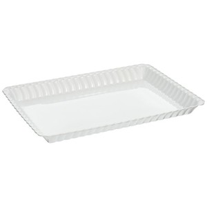 "Fineline設定Flairwareホワイト9 "" x13 "" Serving Tray、バルク48 Pieces"