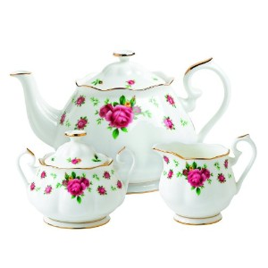 Royal Albert New Country Roses White Teaset, 3-Piece by Royal Albert