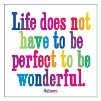 Quotablecards Life Does Not Have to be Perfect to be Wonderful by Quotablecards by Quotable Cards