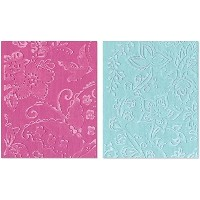 Sizzix Textured Impressions A2 Embossing Folders 2/Pkg-Far Out Florals (並行輸入品)