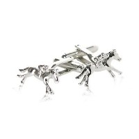 Horseracing Cufflinks with Jockey and Horse Cuff - Daddy