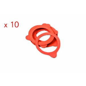 Weck 100mm Rubber Seals / Rings (Set of 10). Fits WECK Models 739 740 741 742 743 744 745 748. by...