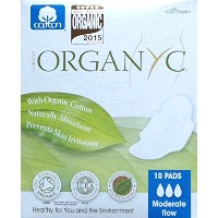 Organyc - Moderate Flow Pads - 10 Count - by ORGANYC