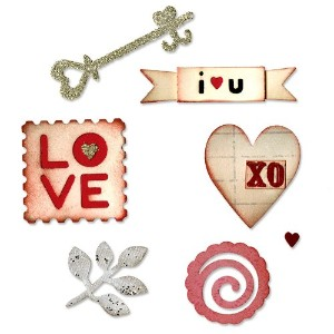 """Sizzix Sizzlits Die Set 3/Pkg 3.75""""X2.5""""-Hearts & More/ Sold as a pack of 1 (並行輸入品)"""