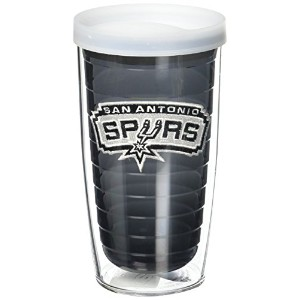 "Tervis 1059577 "" NBA San Antonio Spurs "" Tumbler withクリア蓋、16オンス、クォーツ"