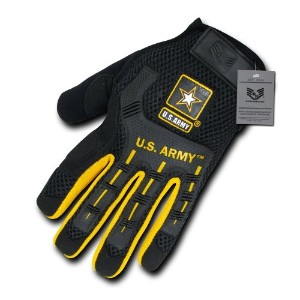 RapDom U02-ARM-BLK-01 Molded Knukle Mechanic Gloves, Army - Black, Small