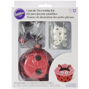 Cupcake Decorating Set Makes 24-Ladybug (並行輸入品)