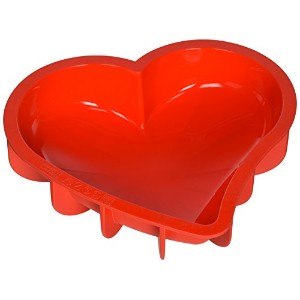 Silikomart SFT211 Silicone Let's Celebrate Bakeware Collection Cake Pan, Heart by Silikomart