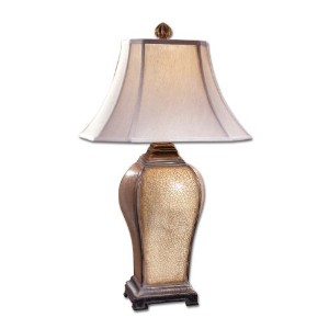 Gorgeous IVORY CRACKLE Table Lamp Traditional by Intelligent Design