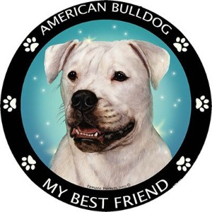 American Bulldog Best Friend車、冷蔵庫マグネット