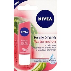 NIVEA Lipcare Fruity Shine Watermelon 4.8g x 3 Packs by Nivea