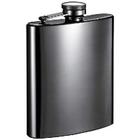 Visol Outlaw Gunmetal Hip Flask, 8-Ounce, Gray by Visol