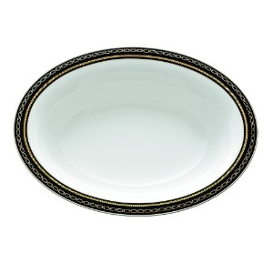 Vera Wang Wedgwood with Love Noirオーバルベジタブルボウル開き、9.75-inch by Vera Wang Wedgwood