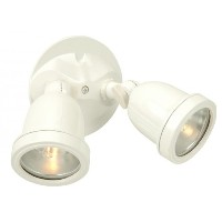 Craftmade Z412-4 Outdoor Directional Light with Halophane Lens Shades, White Finish by Craftmade