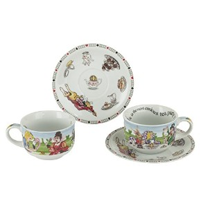 Cardew Design不思議の国のアリス磁器8-ounce Cup and Saucer、2のセット