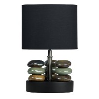 Cortesi Home CH-TL303032 LumiRock Hoodoo Table Lamp with Black Shade by Cortesi Home