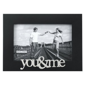 Malden International Designs Expressions You and Me Black Wood Picture Frame, 4x6, Black by Malden...