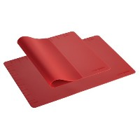 Cake Boss Countertop Accessories 2-Piece Silicone Baking Mat Set, Red by Cake Boss